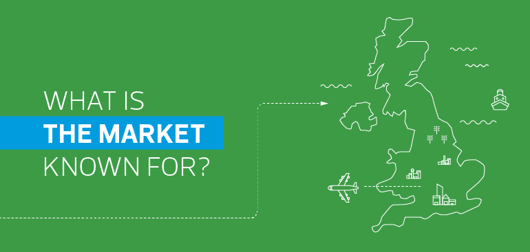 What is the market in the UK known for?