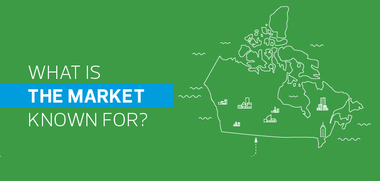 What is the market in Canada known for?