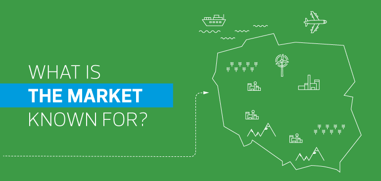 What is the market in Poland known for?