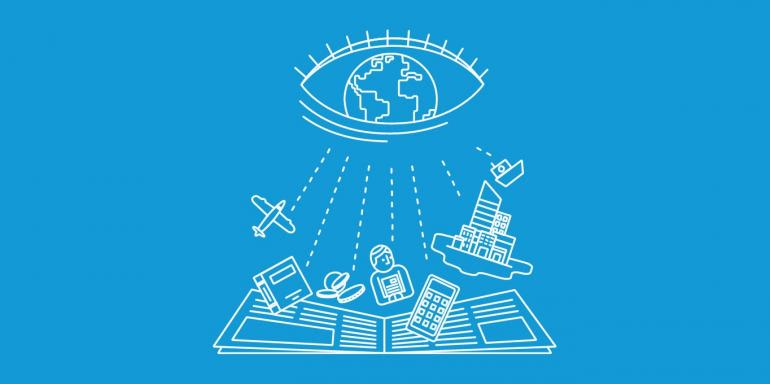 Eye on the world illustration