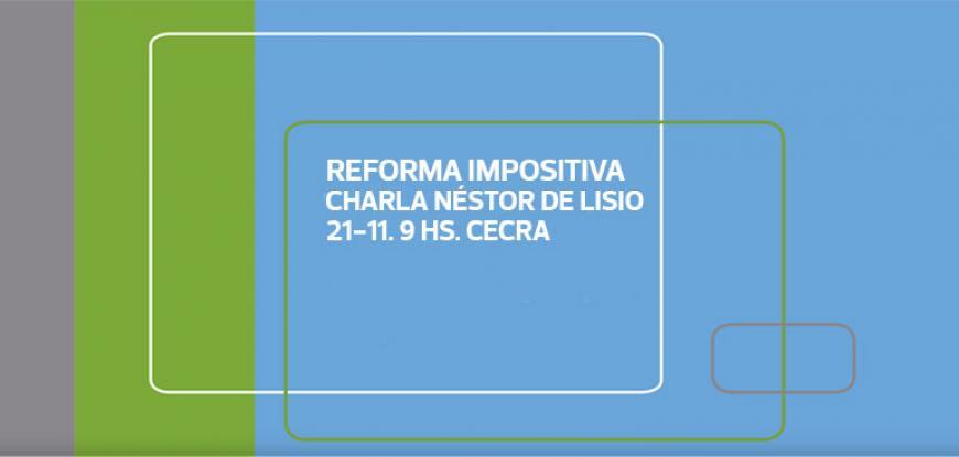 Charla sobre Proyecto de Reforma Impositiva