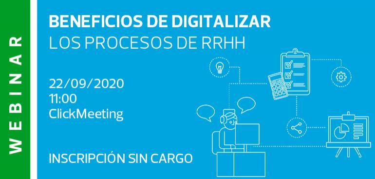Webinar: Beneficios en digitalizar los procesos de RRHH