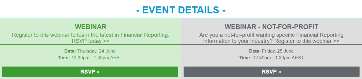 RSVP to our Financial Reporting Update Webinar