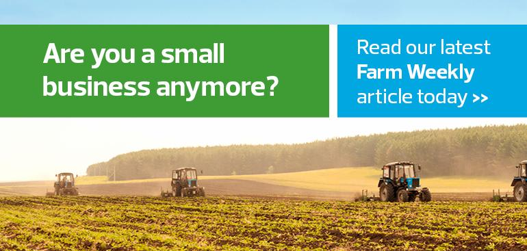 As a primary producer, are you a small business anymore?