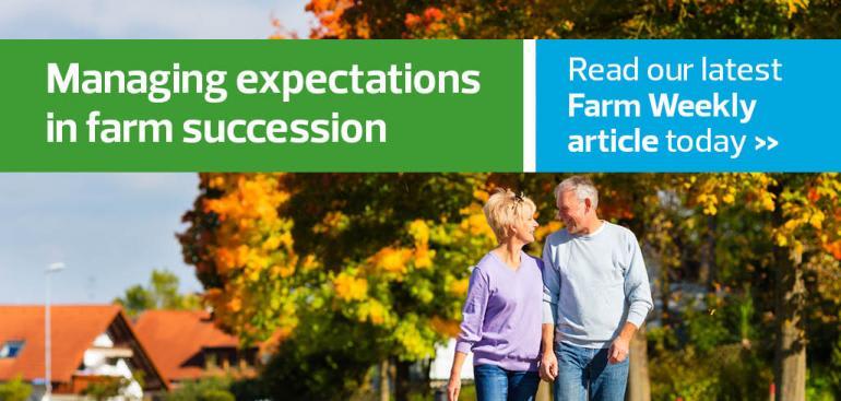 Managing expectations in farm succession