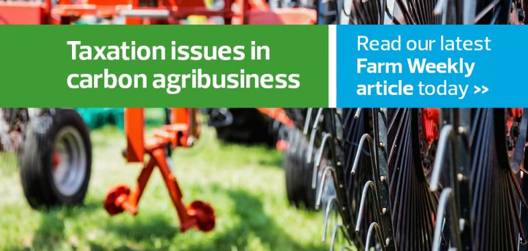 An overview of taxation issues in carbon agribusiness