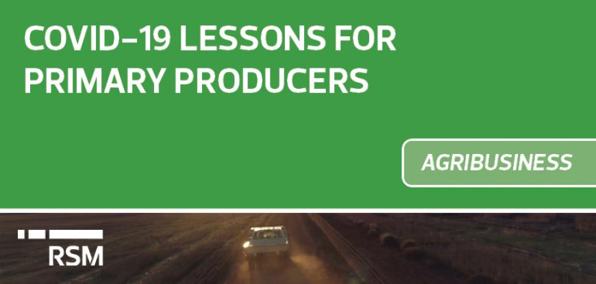 COVID-19 Lessons for Primary Producers