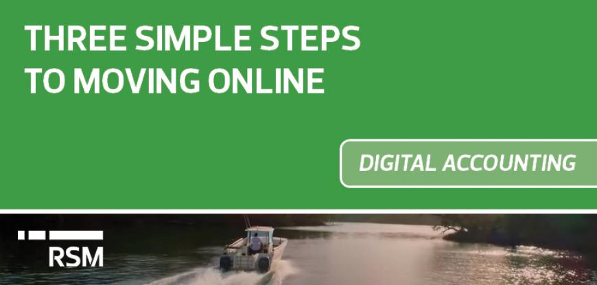 Three simple steps to moving online
