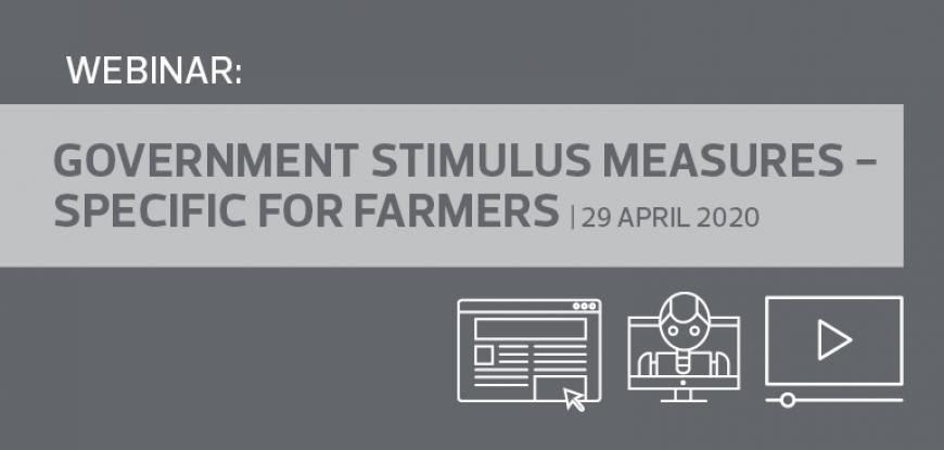 Government Stimulus Measures - Specific for farmers