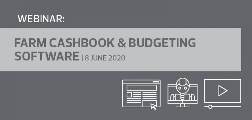 Webinar: Farm Cashbook & Budgeting Software | 8 June 2020