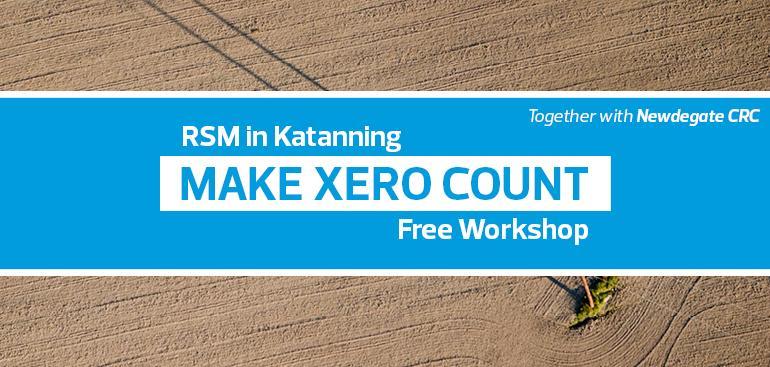Make Xero Count | Newdegate CRC