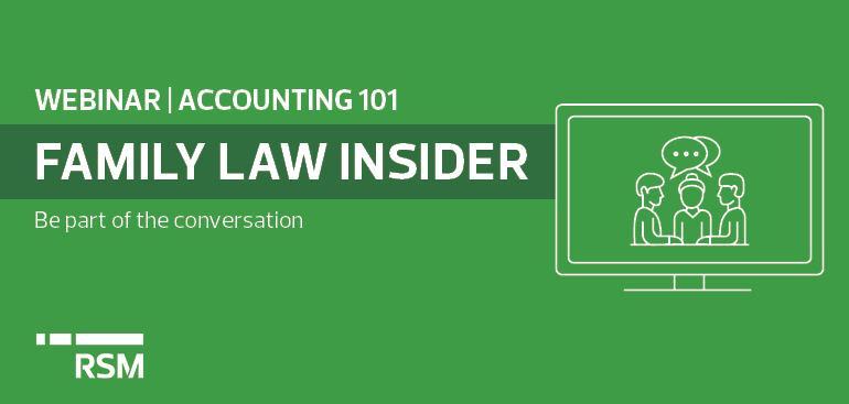 Family Law Webinar - Accounting 101