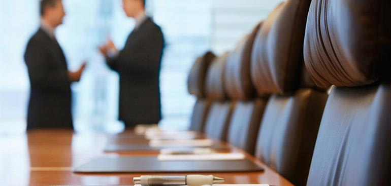Separation & Superannuation - Two People in Boardroom
