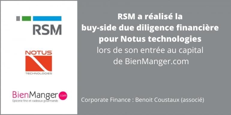 due diligence financière Notus Technologies BienManger.com