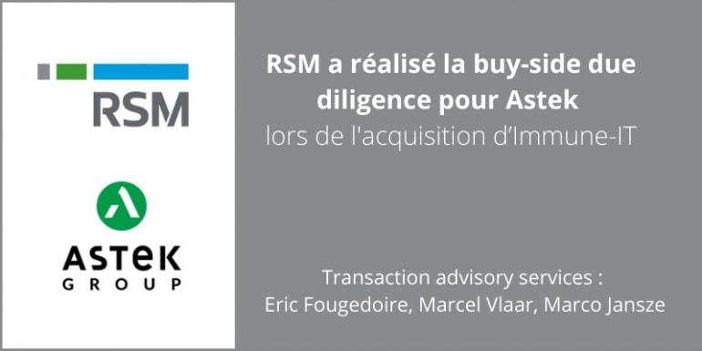 RSM conseil Astek acquisition Immune-T