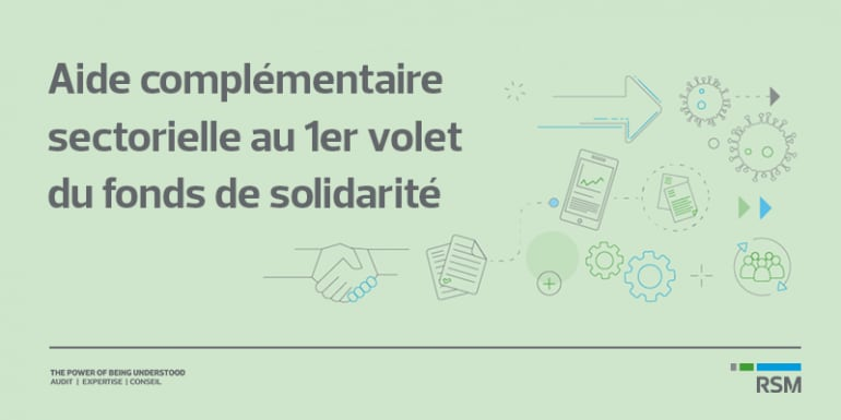Fonds de solidarité : Aide complémentaire sectorielle