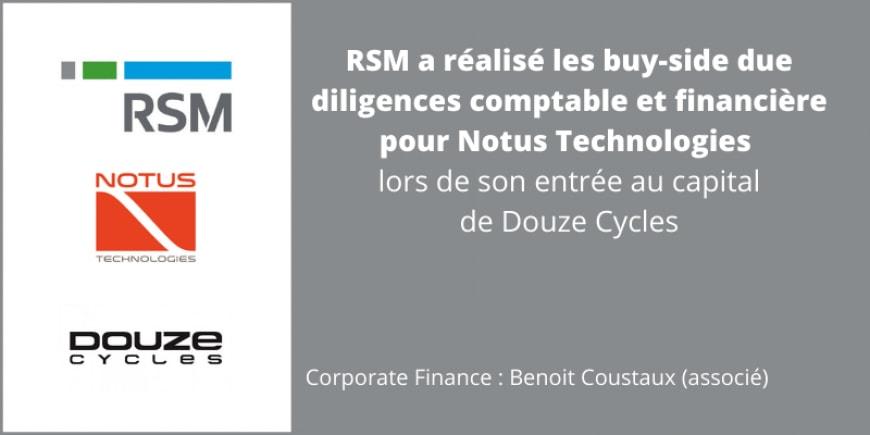 RSM due diligence Notus Technologies Douze Cycle