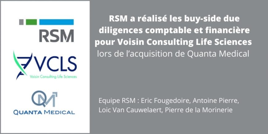 RSM due diligence Voisin Consulting Life Sciences
