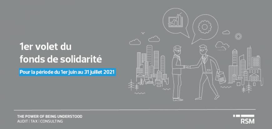 1er volet du fonds de solidarité - 1er juin au 31 juillet 2021