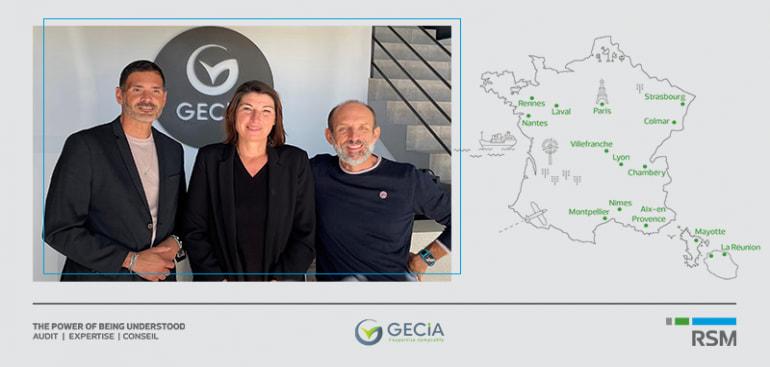 RSM s'implante en Provence-Alpes-Côte d'Azur  grâce à son rapprochement avec le cabinet GECIA