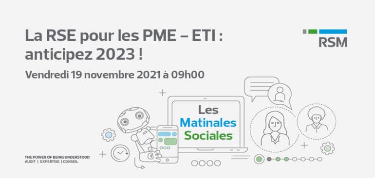 La RSE pour les PME - ETI : anticipez 2023 !