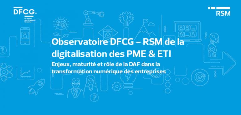 DFCG, Digitalisation, Transformation digitale, Observatoire, ETI, PME