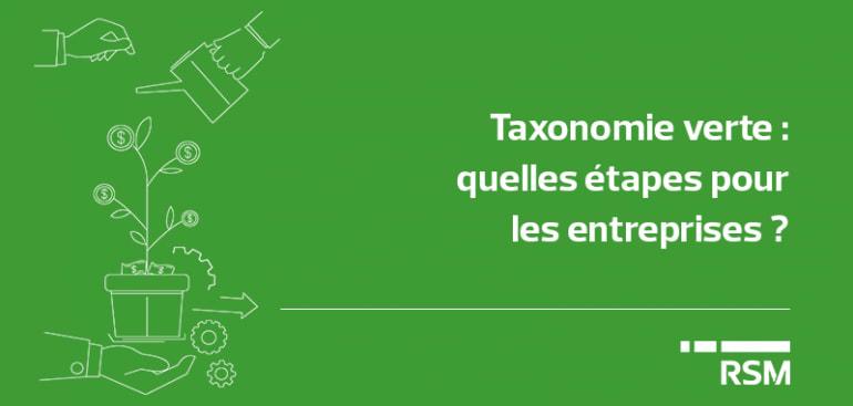 Taxonomie verte : quelles étapes pour les entreprises ?