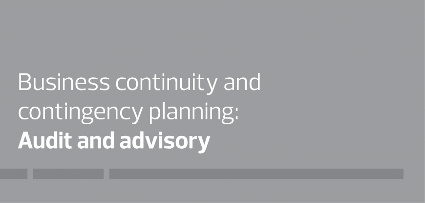 Business continuity & contingency planning: Audit and advisory