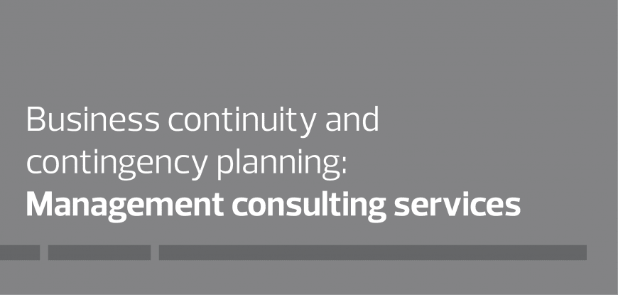Business continuity & contingency planning: Management consulting