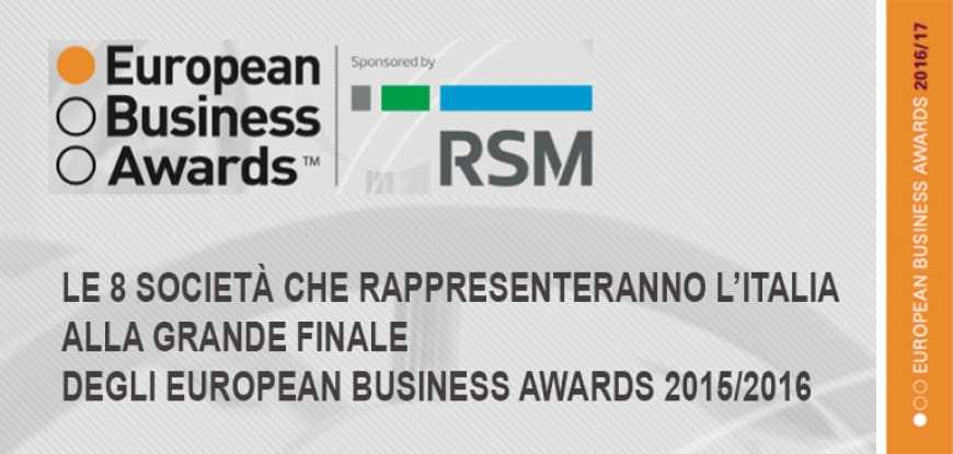 RSM PALEA LAURI GERLA wishes luck to the 8 companies representing Italy in Grand Final of European Business Awards 2015/16