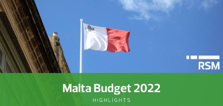 Malta Budget Highlights 2022 by RSM