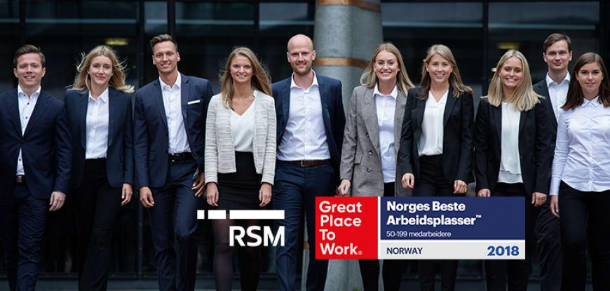 RSM på 11. plass over Norges Beste Arbeidsplasser