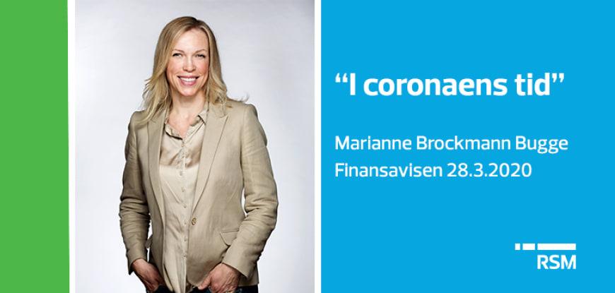 """I coronaens tid"" - Finansavisen 28. mars 2020"