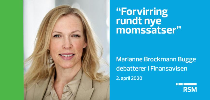 """""""Forvirring rundt nye momssatser"""" - Finansavisen 2.4.2020"""