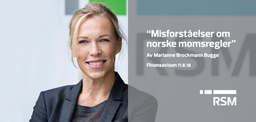 Marianne Brockmann Bugge skriver i Finansavisen