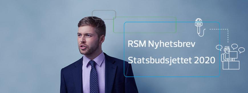 RSM Nyhetsbrev | statsbudsjettet 2020