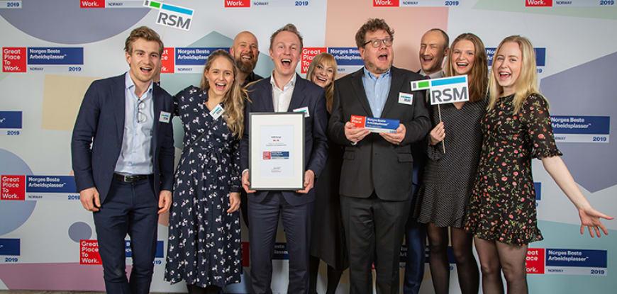 RSM en av Norges Beste Arbeidsplasser 2019