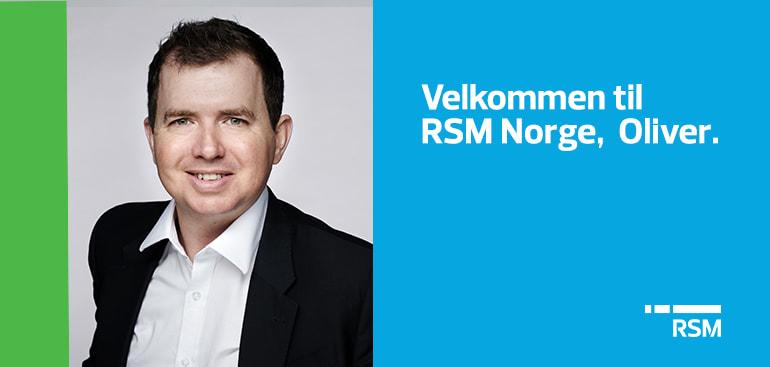 Oliver Smyth blir ny partner i RSM