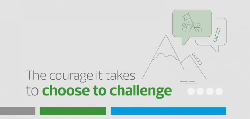 The courage it takes to #ChoosetoChallenge inequality