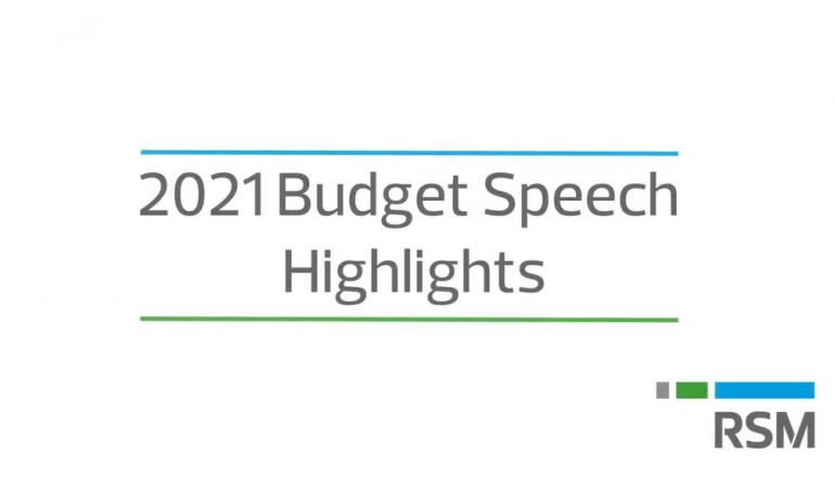 2021 Budget Speech Highlights