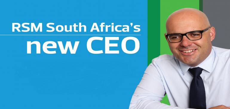 RSM South Africa's new CEO, Louis Quintal