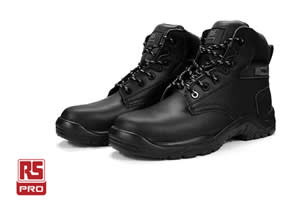 RS PRO Black Fibreglass Toe Cap Safety Boot
