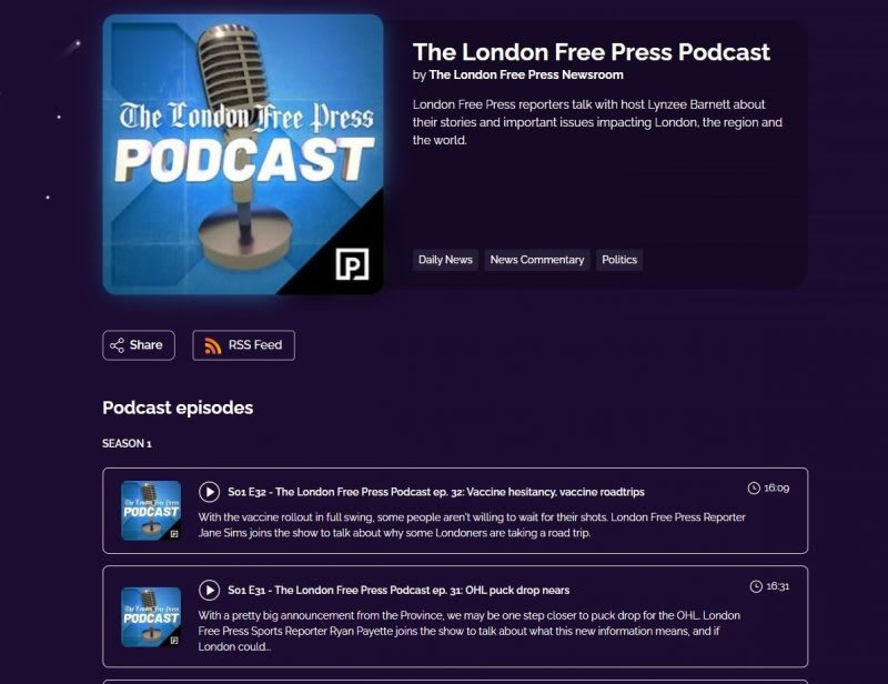 the london free podcast