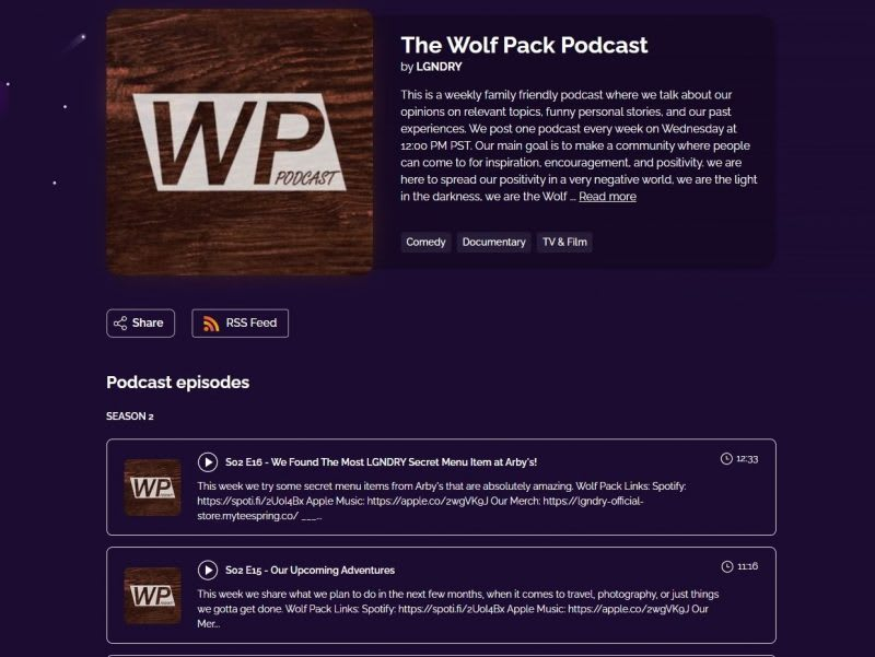 The Wolf Pack Podcast