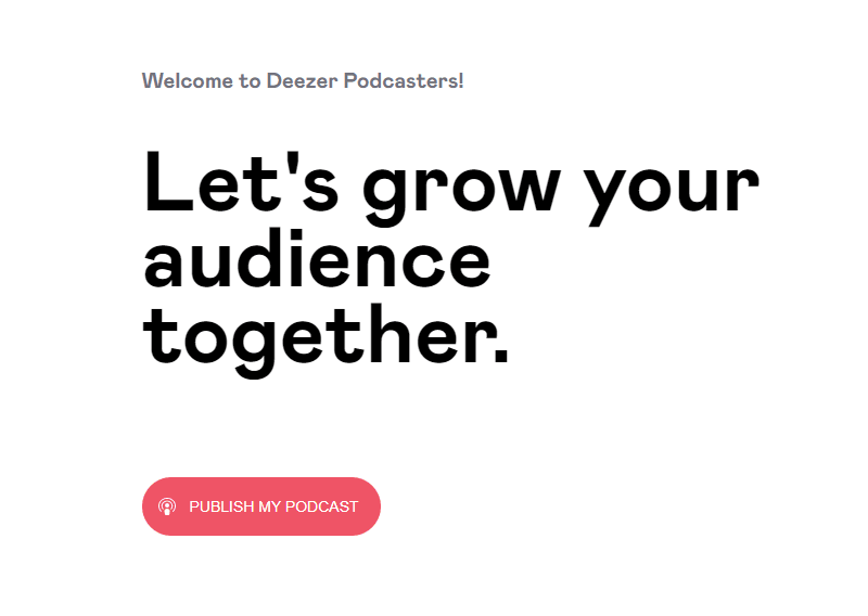 deezer publish my podcast
