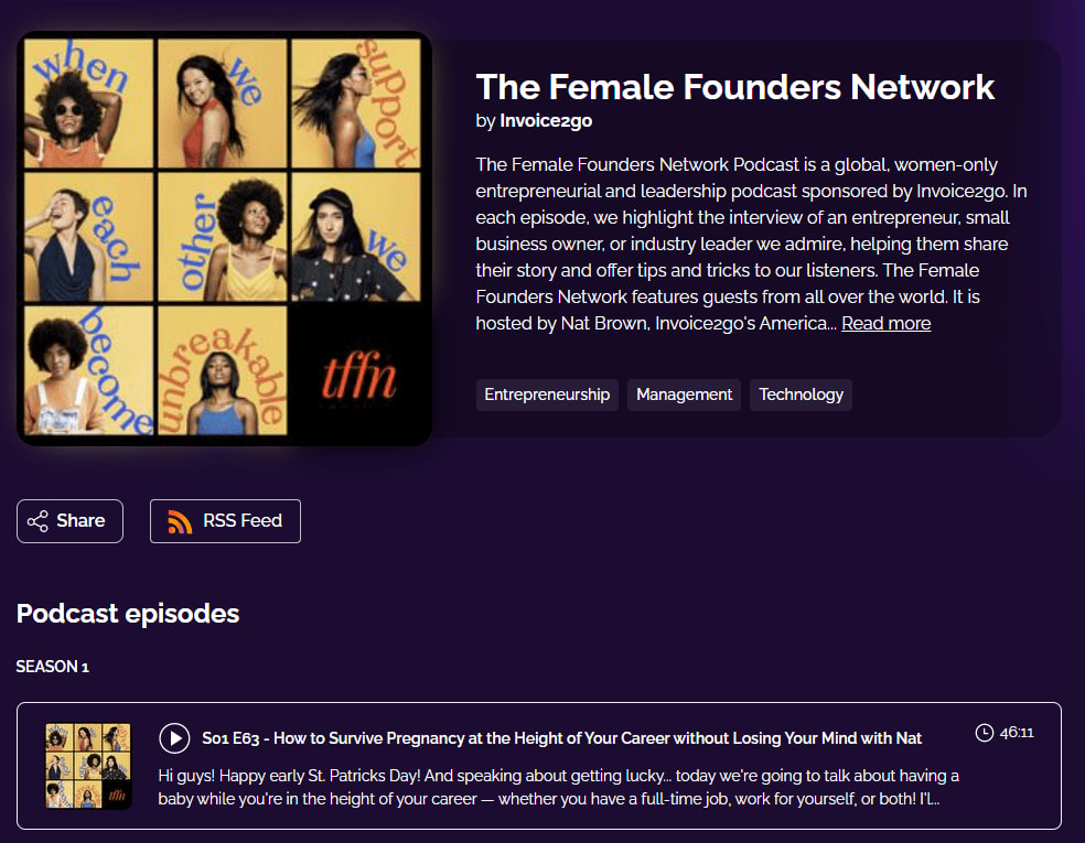 The Female Founders Network by Invoice2go