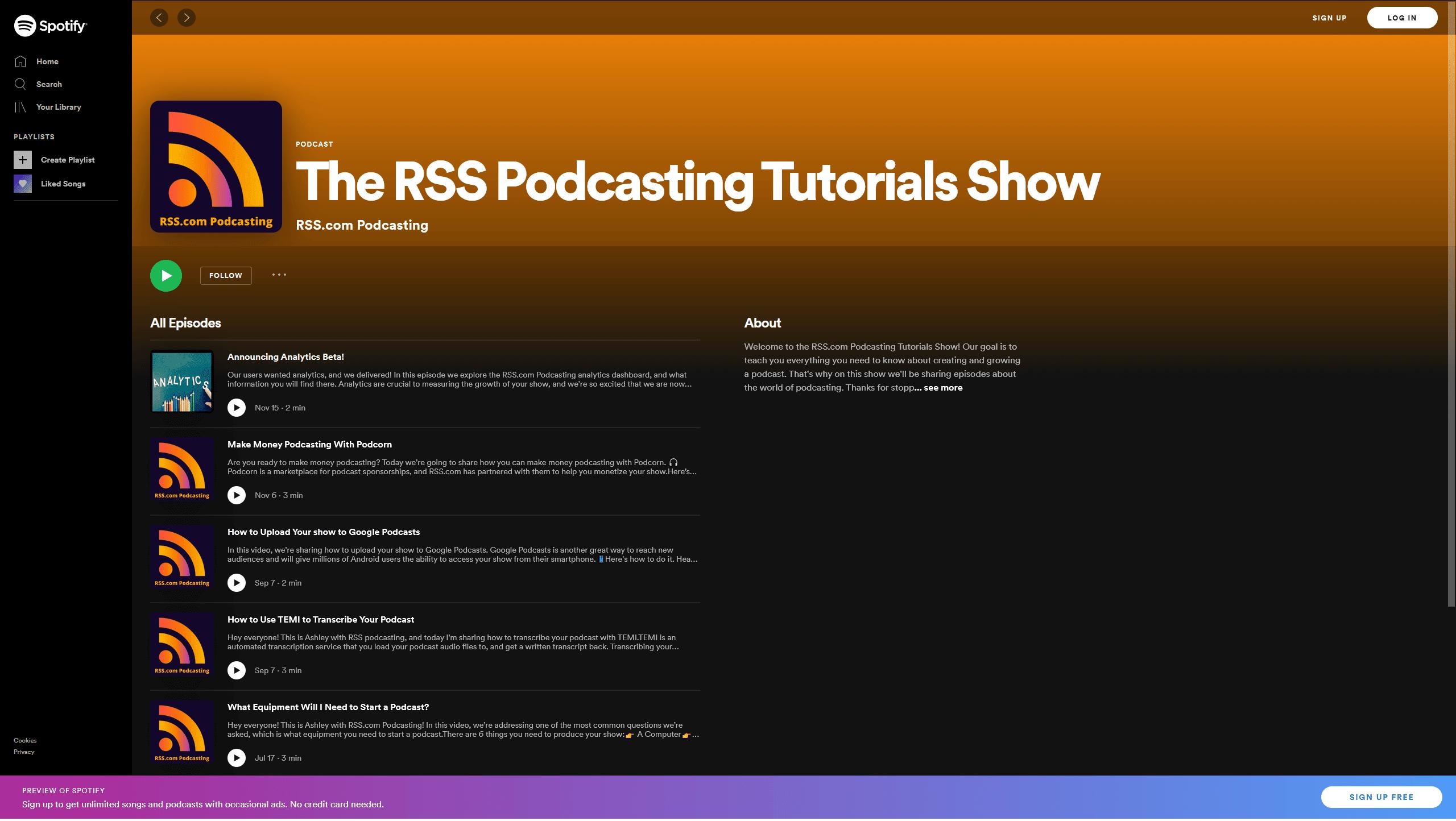 podcast episode art on spotify