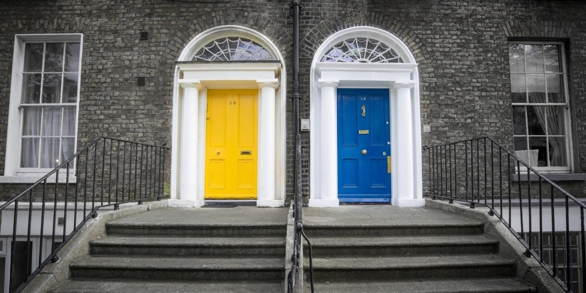 picture of two differently colored doors