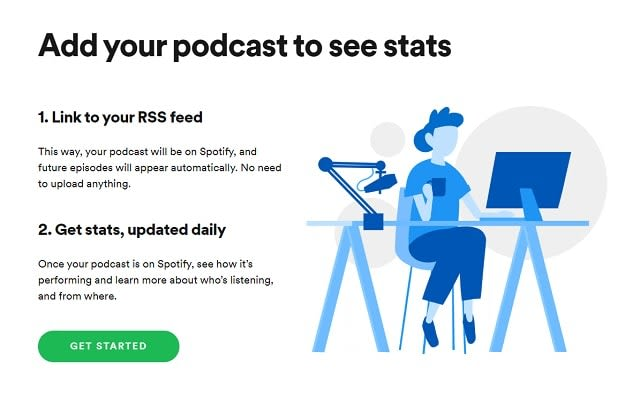 upload your podcast to spotify