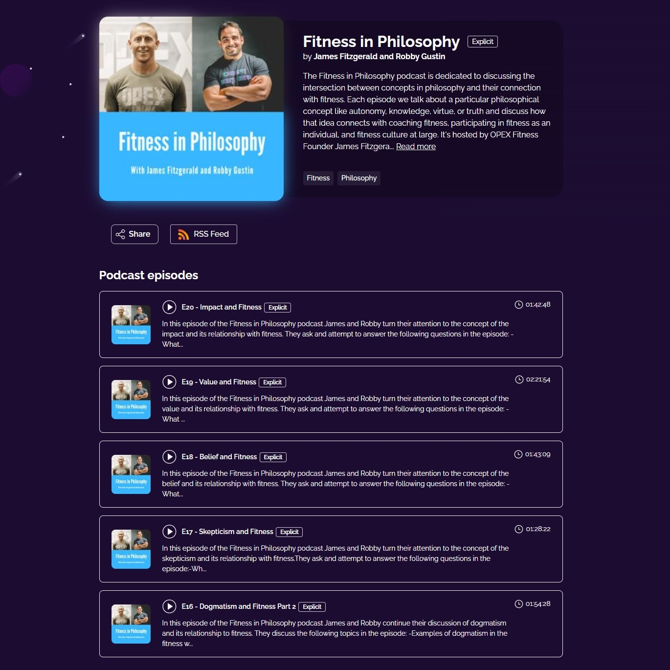 Fitness in Philosophy podcast